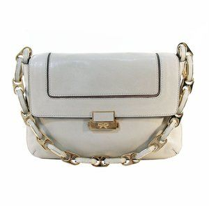 ANYA HINDMARCH Dove Grey Heavy Gold Chain Bag